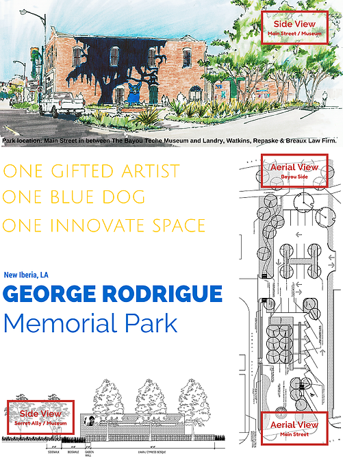 George Rodrigue Park Mock-Up- Courtesy of Viator and Associates, INC. Landscape Architects