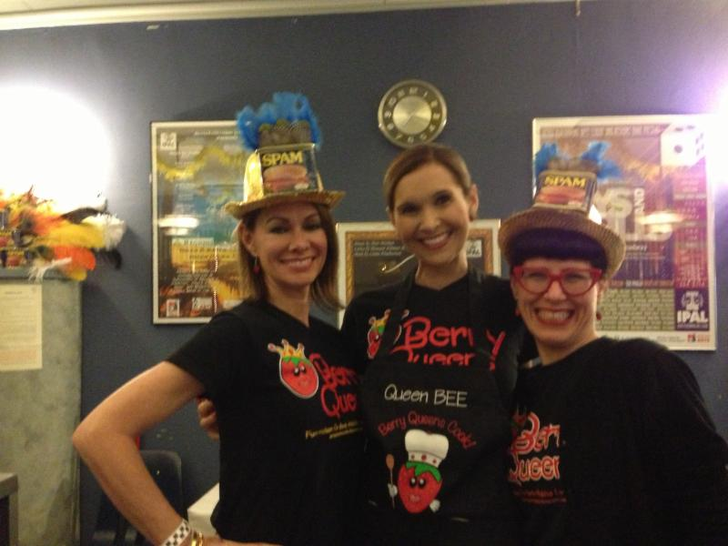 Berry Queens selling concessions at IPAL Spamalot in New Iberia