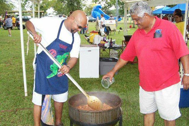 Lydia Food Fest Men cooking