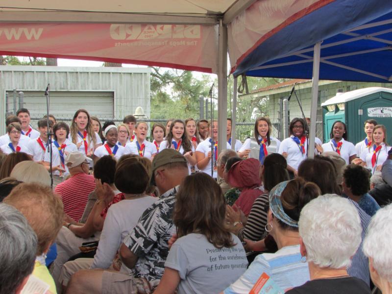GRA Loreauville Day Kids singing