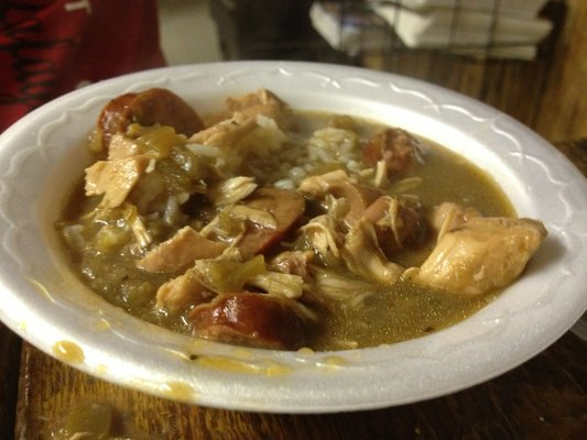 Chicken and sausage gumbo from Bon Creole in New Iberia