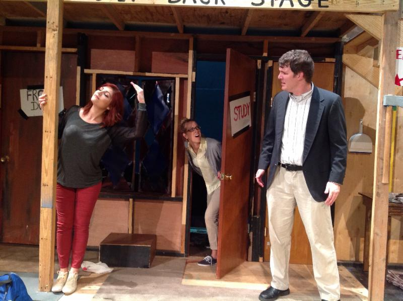 IPAL Noises Off Actors on Stage