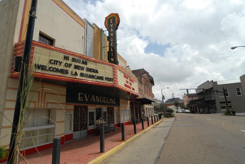 Evangeline Theater Marque