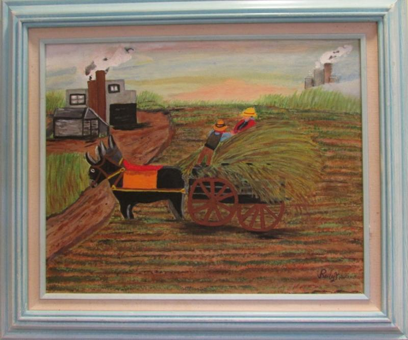 Ruby Newcomb's sugar cane harvest painting