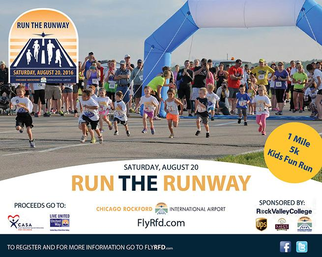 RUN THE RUNWAY for C.A.S.A. and United Way! @ Chicago Rockford International Airport | Rockford | Illinois | United States
