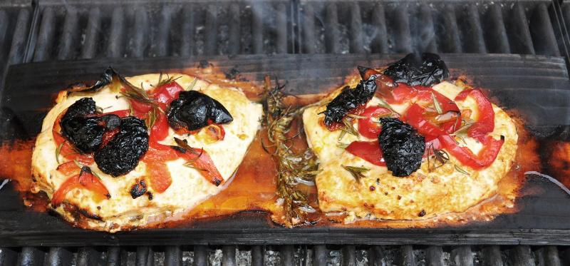 Mediteranian Planked Chicken Breasts