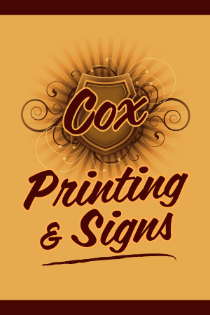 Cox Signs Printing Updated Logo