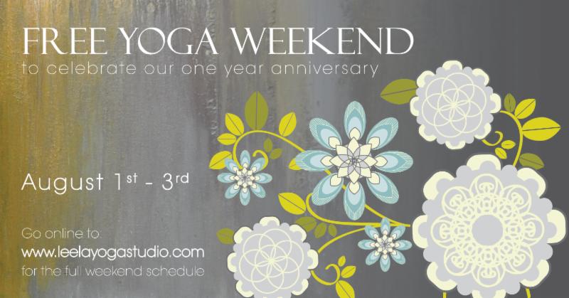 Leela Yoga One Year Anniversary