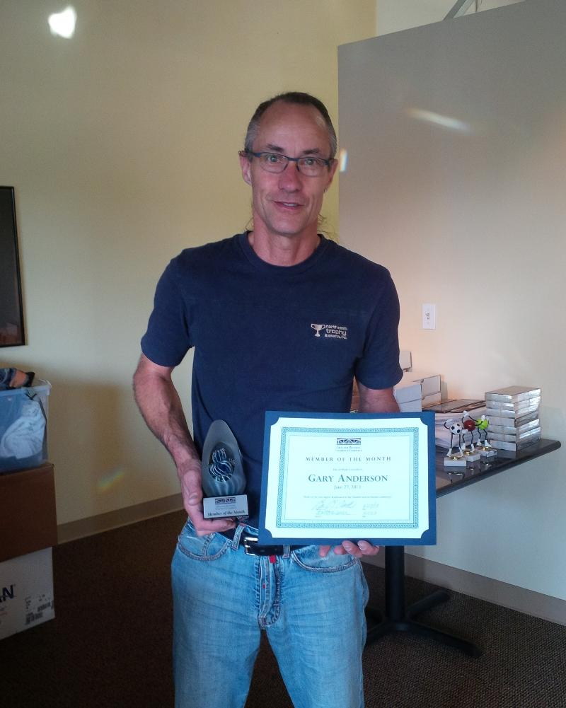 Gary Anderson Member of the Month