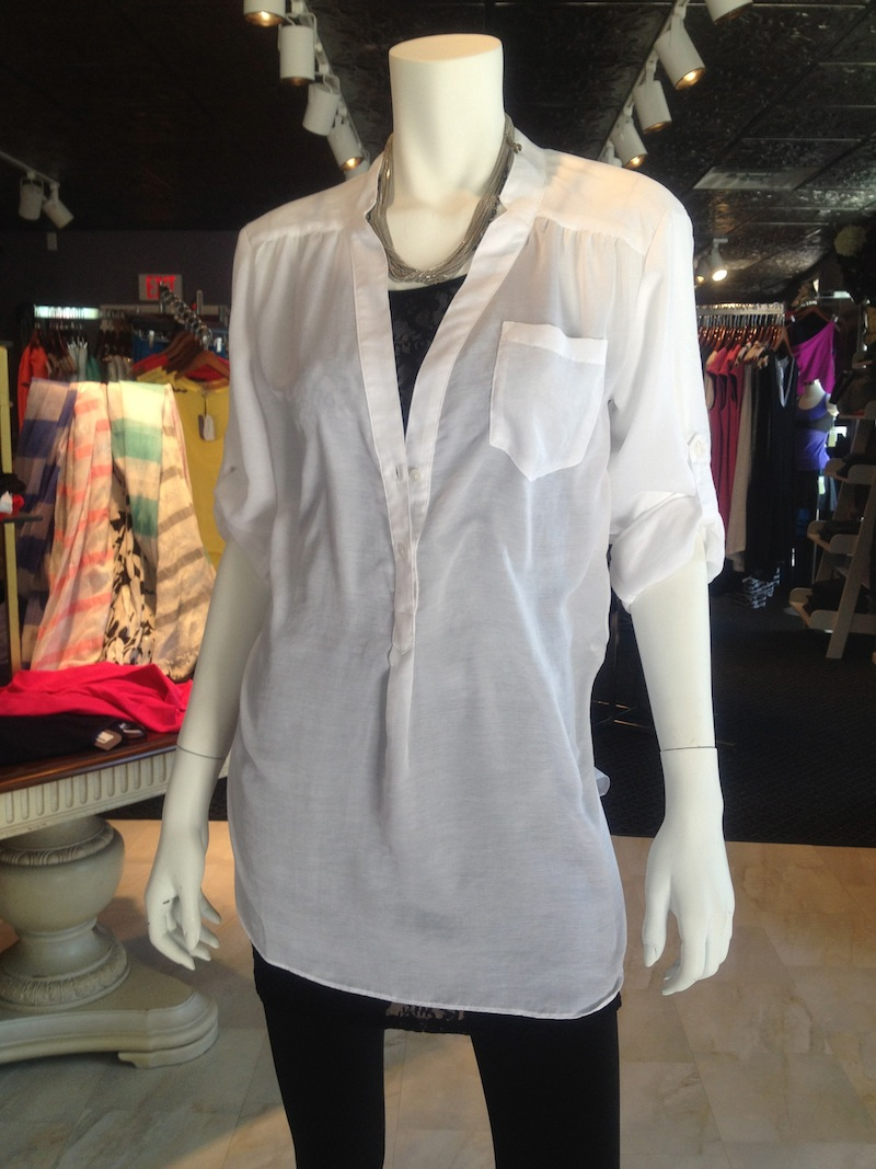 What To Wear Under A Sheer Off White Blouse 9