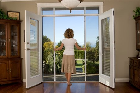 Retractable screen doors kj custom designs the colony for Do french patio doors have screens
