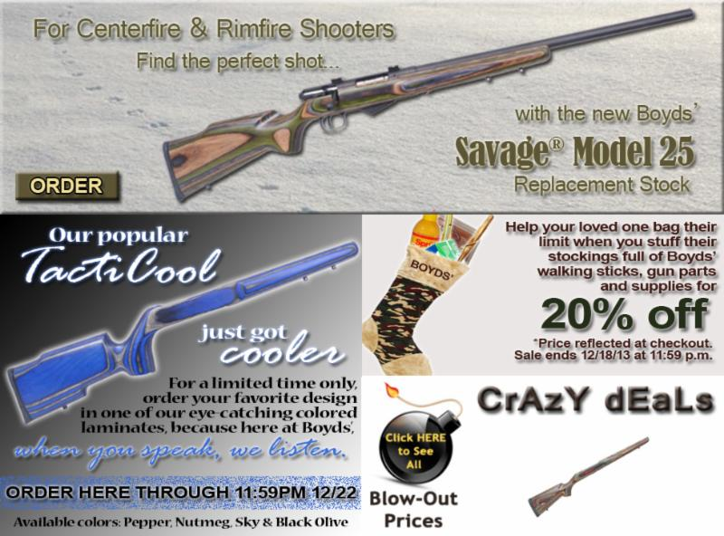 Boyds' Weekly Specials ~ NEW Savage 25 ~ Color TactiCool