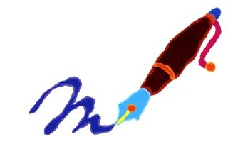 fountain pen blue ink