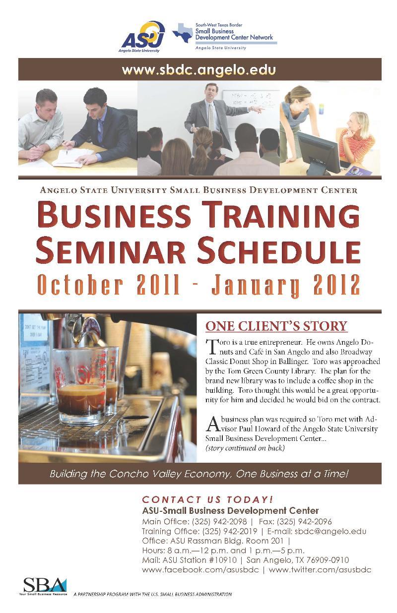 October-January Seminar Brochure