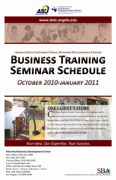 October-January Seminar Brochure
