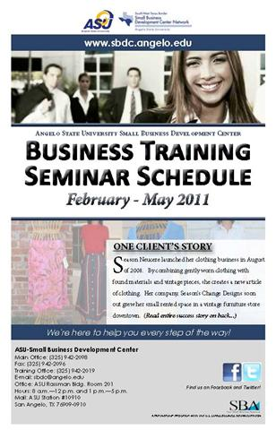 February - May Seminar Schedule