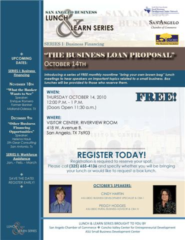 San Angelo Business Lunch & Learn Series