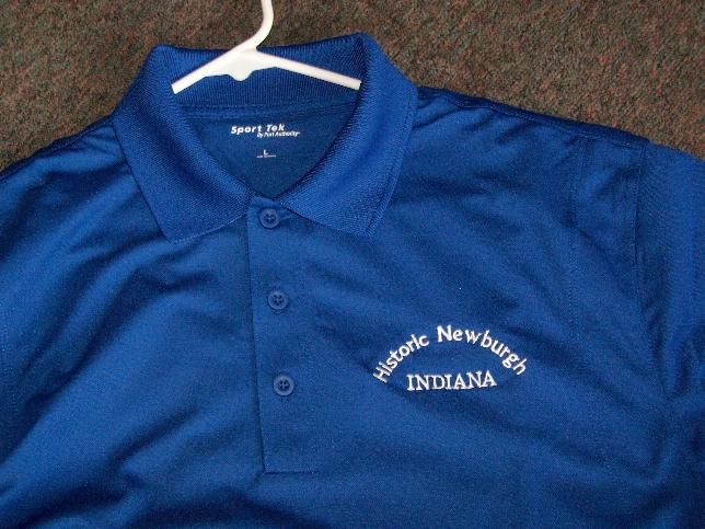 Sport Tek golf shirt close-up