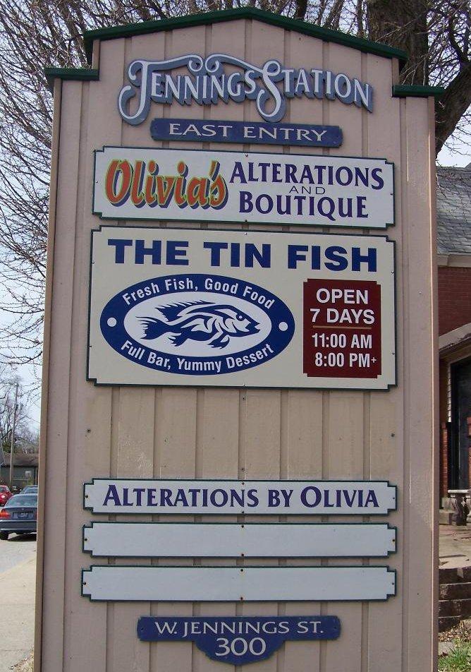 Tin Fish sign