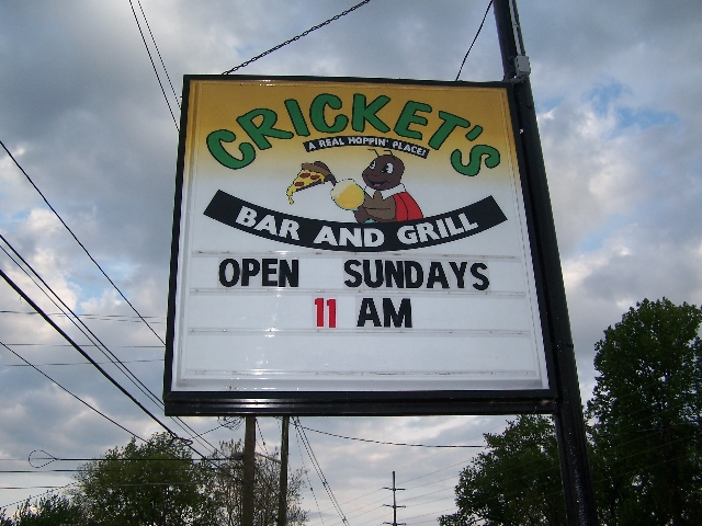 Crickets sign