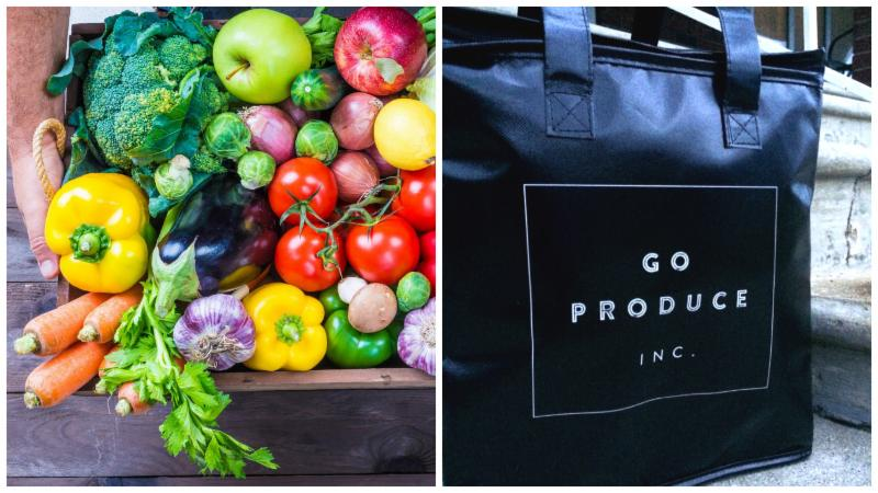 Go Produce Inc. bag and produce