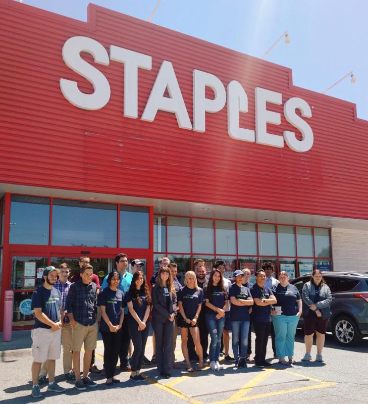 Summer Company students at Staples showcase