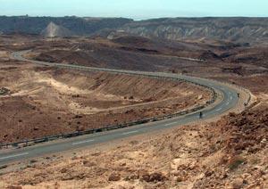 Curvy biking roads, Israel