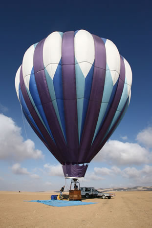 hot air balloon in Israel