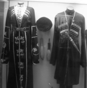 Circassian dress on view at Circassian Museum, Galilee, Israel
