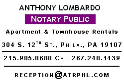 Anthony Lombardo for all your Notary needs!