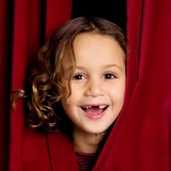 Arts Education - Girl in Curtain image