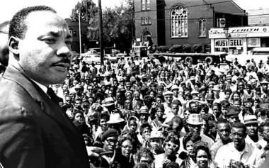 MLK at Rally