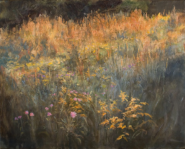 Goldenrod and Thistles oil by Matthew Richter