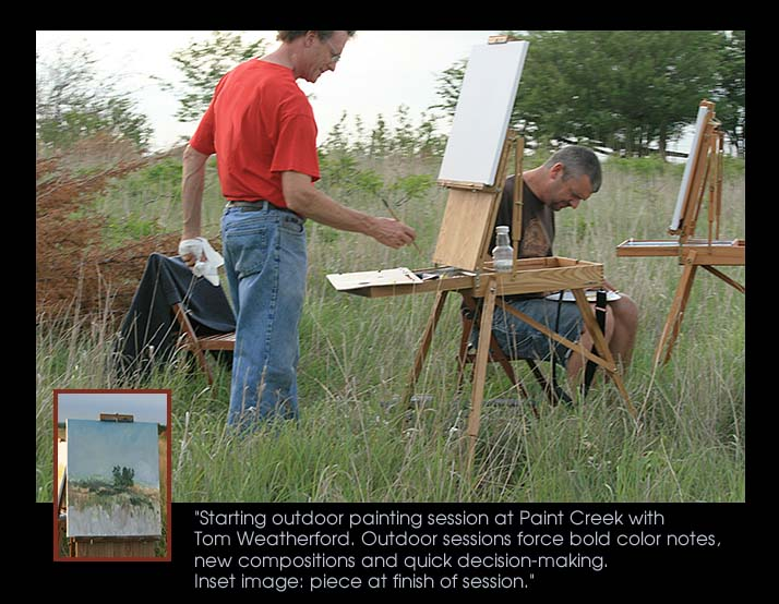 Outdoor painting session at Paint Creek