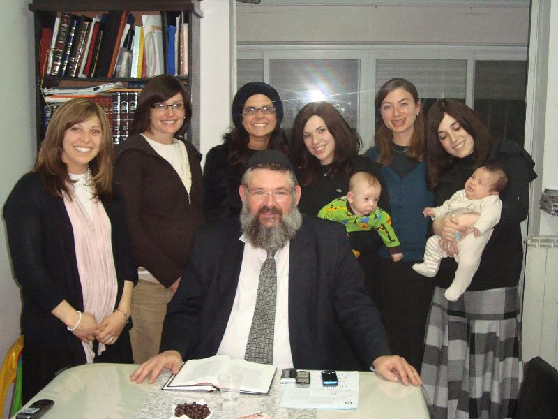 TI Reunion with Rabbi Olstein in Israel Nov. 2011
