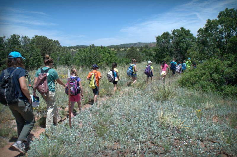 Hiking at Camp