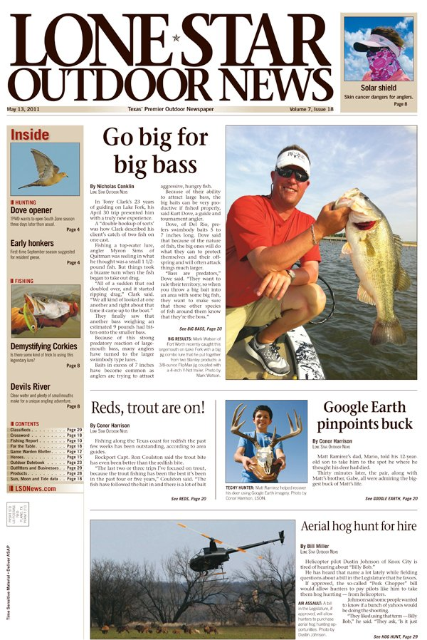 My gun email blog archive lone star outdoor news may 2011 for Hunting and fishing forecast