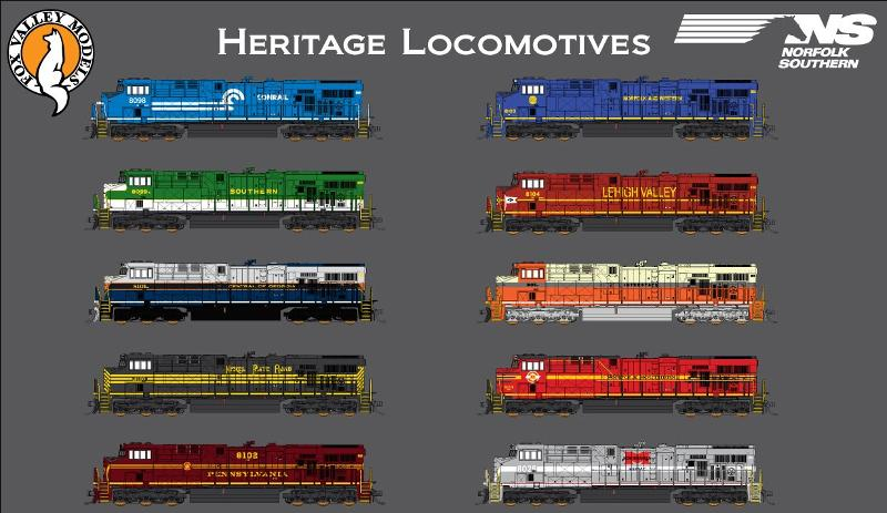 Fox Valley Models ES44AC Locomotives NS Heritage Series Pre
