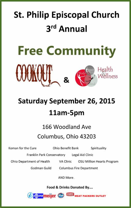 Community cookout poster