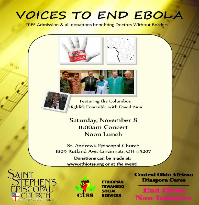 Voices to End Ebola flyer