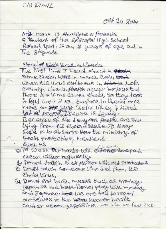 Liberian letter 1