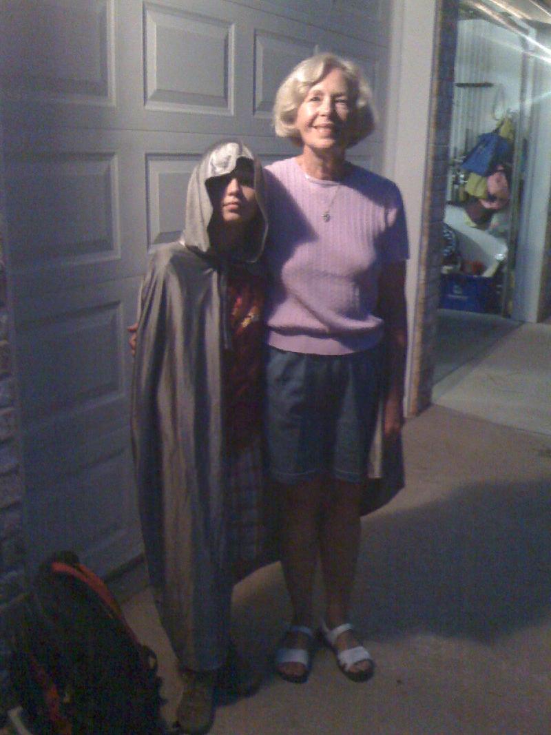 Luke with Grandmother