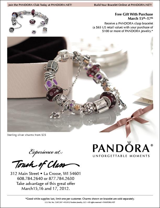 free pandora charm with purchase