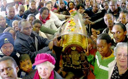 Relics of St. Therese in South Africa