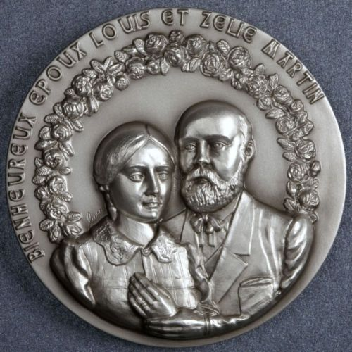 Commemorative medallion of Louis and Zelie Martin
