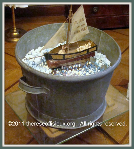 The toy boat with