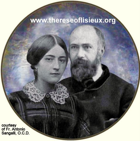 Round photo of Blessed Louis and Zelie Martin against a blue background