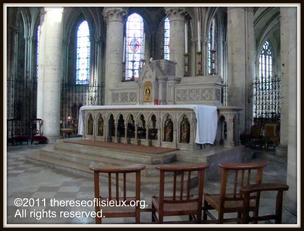 The high altar, donated by Louis Martin, of the Cathedral of St. Pierre in Lisieux