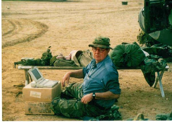 Joe Galloway on location with the troops