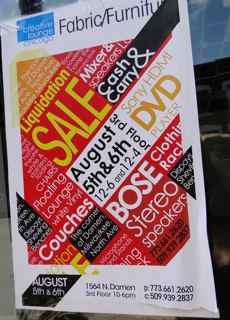 pop up audio shop poster